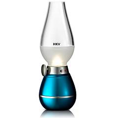 preiswerte Ausgefallene LED-Beleuchtung-hkv® kreative blasende Steuerung retro Petroleumlampe LED-Sensor Licht dimmen Licht usb aufladbare Nachttischlampe Atmosphäre Licht