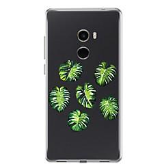 Недорогие Чехлы и кейсы для Xiaomi-Кейс для Назначение Xiaomi Mi Mix 2 Прозрачный С узором Кейс на заднюю панель Растения Мягкий ТПУ для Xiaomi Mi Mix 2