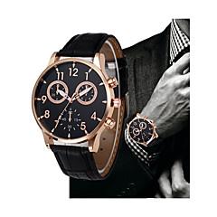 preiswerte Herrenuhren-Herrn Kleideruhr Chinesisch Chronograph PU Band Freizeit / Elegant Schwarz / Braun