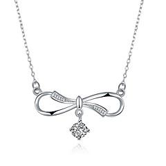 preiswerte Halsketten-Damen Kubikzirkonia Geometrisch Anhängerketten - S925 Sterling Silber damas, Modisch Silber 45 cm Modische Halsketten Schmuck 1 Für Geschenk, Alltag