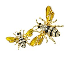 cheap Brooches-Brooches - Bee Basic, Fashion Brooch Gold For Daily / Date