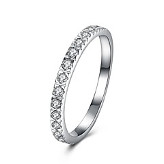 preiswerte Ringe-Damen Kubikzirkonia Bandring - S925 Sterling Silber damas, Modisch Schmuck Silber Für Geschenk Alltag 6 / 7 / 8 / 9