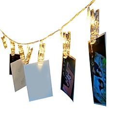 お買い得  LED ストリングライト-1.5m ストリングライト 10 LED 温白色 / RGB 装飾用 単3乾電池 1個