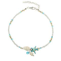 お買い得  ボディージュエリー-真珠 アンクレット  -  人造真珠 ヒトデ ヴィンテージ ホワイト 用途 贈り物 / 女性用