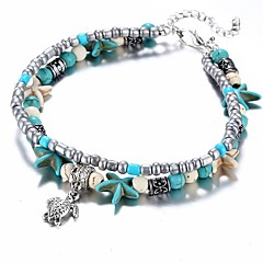 abordables Bijoux pour Femme-Femme Bracelets de rive - Tortue, Étoile de mer Ethnique Bracelet Bleu clair Pour Cadeau Quotidien