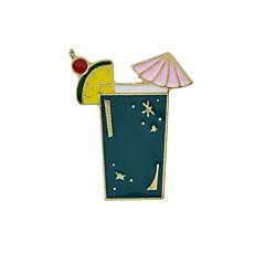 お買い得  ブローチ-女性用 ブローチ  -  カップ, Parrot ベーシック, ファッション ブローチ ホワイト / パープル / グリーン 用途 日常 / デート