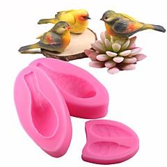 お買い得  ベイキング用品&ガジェット-かわいい3Dの鳥フォンダンケーキ装飾ツールsugarcraftシリコンモールドベーキングgumpasteチョコレートモールド