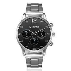 お買い得  メンズ腕時計-男性用 中国 クロノグラフ付き / 大きめ文字盤 / クール ステンレス バンド ブラック / シルバー