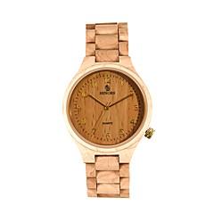 お買い得  メンズ腕時計-男性用 カジュアルウォッチ ファッションウォッチ 腕時計 ウッド 日本産 クォーツ 30 m 耐水 カレンダー ウッド バンド ハンズ ヴィンテージ ブラック / ブラウン / パープル - ブラック パープル Brown 2年 電池寿命