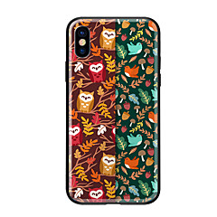 Недорогие Кейсы для iPhone 6 Plus-Кейс для Назначение Apple iPhone X iPhone 8 С узором Кейс на заднюю панель Сова Животное Твердый Закаленное стекло для iPhone X iPhone 8