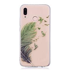 billige Nyheder-Etui Til Huawei P20 lite P20 Pro IMD Transparent Mønster Bagcover Fjer Blødt TPU for Huawei P20 lite Huawei P20 Pro Huawei P20 P10 Plus