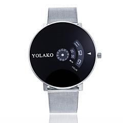 preiswerte Herrenuhren-Herrn Damen Quartz Armbanduhren für den Alltag Chinesisch Großes Ziffernblatt Legierung Band Minimalistisch Modisch Silber Gold