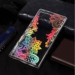 Недорогие Чехлы и кейсы для Sony-Кейс для Назначение Sony Xperia L2 / Xperia L1 Покрытие / С узором Кейс на заднюю панель Кружева Печать Мягкий ТПУ для Xperia L2 / Sony Xperia L1