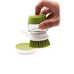 abordables Limpieza para la Cocina-Cocina Limpiando suministros Plásticos / vidrio Cepillo y Trapo de Limpieza Cocina creativa Gadget 1pc