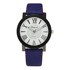 preiswerte Herrenuhren-Herrn Kleideruhr Chinesisch Chronograph / Kreativ / Großes Ziffernblatt PU Band Luxus Blau / Meeresblau