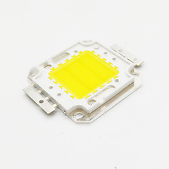abordables Ledes-ZDM® 1pc 2500-3500lm 30V / 30-34V Accesorio de la bombilla Chip LED Aluminio / Pure Gold Wire LED para DIY Proyector de luz de inundación
