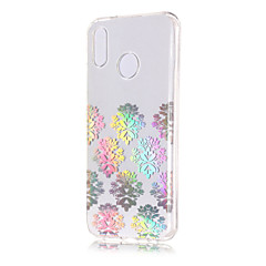 お買い得  Huawei Pシリーズケース/ カバー-ケース 用途 Huawei P20 lite / P20 メッキ仕上げ / クリア / パターン バックカバー レース印刷 ソフト TPU のために Huawei P20 lite / Huawei P20 Pro / Huawei P20