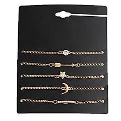 preiswerte Armbänder-5 Stück Damen Geometrisch Ketten- & Glieder-Armbänder Bettelarmbänder - damas, Retro Armbänder Schmuck Gold Für Verabredung Strasse