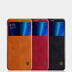 Недорогие Чехлы и кейсы для Xiaomi-Кейс для Назначение Xiaomi Mi 6X Бумажник для карт / с окошком / Флип Чехол Однотонный Твердый Кожа PU для Xiaomi Mi 6X(Mi A2)
