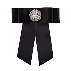 お買い得  ブローチ-ブローチ  -  リボン 欧風 ブローチ ブラック 用途 結婚式 / パーティー