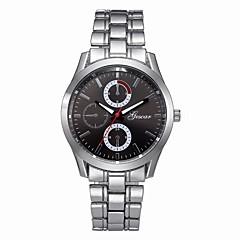 お買い得  メンズ腕時計-男性用 ドレスウォッチ 中国 クロノグラフ付き ステンレス バンド ファッション シルバー