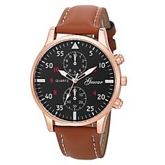 お買い得  メンズ腕時計-男性用 ドレスウォッチ 中国 クロノグラフ付き / クリエイティブ PU バンド ファッション ブラック