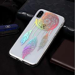 Недорогие Кейсы для iPhone 6-Кейс для Назначение Apple iPhone X / iPhone 8 IMD / С узором Кейс на заднюю панель Ловец снов Мягкий ТПУ для iPhone X / iPhone 8 Pluss /