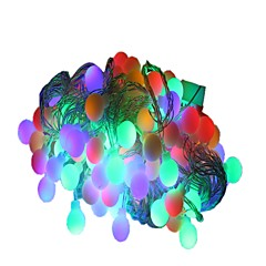 preiswerte LED Lichtstreifen-10m Leuchtgirlanden 100 LEDs LED Diode Warmes Weiß / Mehrfarbig Dekorativ 220-240 V 1pc / IP44