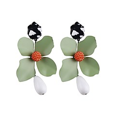 preiswerte Ohrringe-Tropfen-Ohrringe - Blumen / Botanik, Blume Modisch Rot / Grün / Königsblau Für Party / Verabredung / Strasse