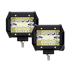 cheap Car Accessories-2pcs Car Light Bulbs 60W Integrated LED 6000lm 20 LED Exterior Lights For universal 2018