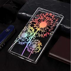 Недорогие Чехлы и кейсы для Sony-Кейс для Назначение Sony Xperia L2 / Xperia L1 Покрытие / С узором Кейс на заднюю панель одуванчик Мягкий ТПУ для Xperia L2 / Sony Xperia L1