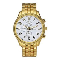 お買い得  メンズ腕時計-男性用 ドレスウォッチ 30 m クロノグラフ付き クリエイティブ 大きめ文字盤 ステンレス バンド ハンズ ぜいたく シルバー - シルバー /  ブラック ブラック / ホワイト ホワイト / ゴールド 1年間 電池寿命 / SSUO LR626