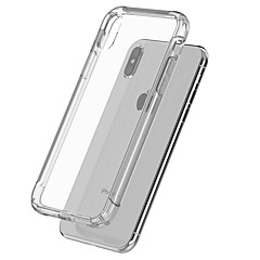 billige Etuier til iPhone X-Etui Til Apple iPhone 5 etui / iPhone 6s Stødsikker / gennemsigtige legeme Bagcover Ensfarvet Blødt TPU for iPhone X / iPhone 8 Plus / iPhone 8