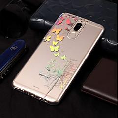 Недорогие Чехлы и кейсы для Huawei Mate-Кейс для Назначение Huawei Mate 10 lite / Mate 10 pro Покрытие / С узором Кейс на заднюю панель Бабочка / одуванчик Мягкий ТПУ для Mate