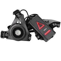お買い得  LED アイデアライト-hkv®最新の屋外スポーツランニングライトは、夜間ランニング懐中電灯警告灯usb充電胸ランプ白い光トーチを導いた
