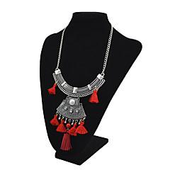 お買い得  ネックレス-女性用 合成タンザナイト ペンダントネックレス  -  ヴィンテージ, ファッション, ステートメント ブラック, レッド, ブルー 46+6 cm ネックレス 用途 式典, お出かけ
