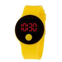 お買い得  メンズ腕時計-男性用 女性用 デジタル デジタルウォッチ 中国 耐水 カジュアルウォッチ クールな単語 / フレーズ 3Dカトゥーン LCD シリコーン バンド Elegant クール ブラック 白 ブルー レッド グリーン パープル クローバー
