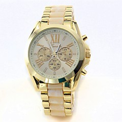 お買い得  メンズ腕時計-男性用 リストウォッチ クォーツ 30 m クロノグラフ付き クールな単語 / フレーズ 大きめ文字盤 ステンレス バンド ハンズ ぜいたく クリエイティブ ゴールド - ブラック ベージュ ブルー 1年間 電池寿命 / SSUO LR626