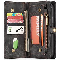 Недорогие Кейсы для iPhone 7-Кейс для Назначение Apple iPhone X / iPhone 7 Бумажник для карт / Кошелек / со стендом Чехол Однотонный Твердый Кожа PU для iPhone X /
