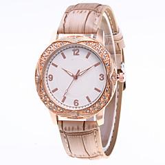 お買い得  レディース腕時計-女性用 リストウォッチ 中国 カジュアルウォッチ PU バンド ファッション ブラック / 白 / ブルー