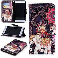 Недорогие Чехлы и кейсы для Xiaomi-Кейс для Назначение Xiaomi Redmi Примечание 5A / Redmi 4X Кошелек / Бумажник для карт / со стендом Чехол Слон Твердый Кожа PU для Redmi Note 5A / Xiaomi Redmi Note 4X / Xiaomi Redmi Note 4