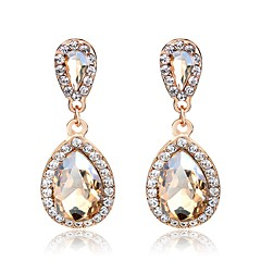 voordelige Oorbellen-Kristal Geometrisch / Lang Druppel oorbellen - Drop Zoet, Elegant Goud Voor Bruiloft / Feest / Uitgaan