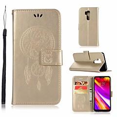 Недорогие Чехлы и кейсы для LG-Кейс для Назначение LG G7 Кошелек / Бумажник для карт / со стендом Чехол Сова Твердый Кожа PU для LG G7