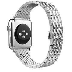 abordables Ofertas Semanales-Ver Banda para Apple Watch Series 4/3/2/1 Apple Hebilla de la mariposa Acero Correa de Muñeca