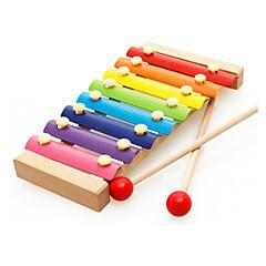 abordables Caja de Música-Pandereta Gradiente de Color Unisex Chico Chica Juguet Regalo 1 pcs / Madera