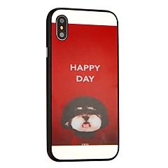 Недорогие Кейсы для iPhone 6 Plus-Кейс для Назначение Apple iPhone X iPhone 8 Защита от удара Кейс на заднюю панель С собакой Твердый ПК для iPhone X iPhone 8 Pluss iPhone