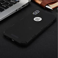 Недорогие Кейсы для iPhone X-Кейс для Назначение Apple iPhone 8 Plus / iPhone 7 Защита от удара / Водонепроницаемый / Прозрачный Чехол Однотонный Мягкий ТПУ для