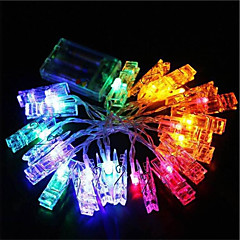 お買い得  LED ストリングライト-1.5m ストリングライト 10 LED 温白色 / クールホワイト / RGB 装飾用 220-240 V