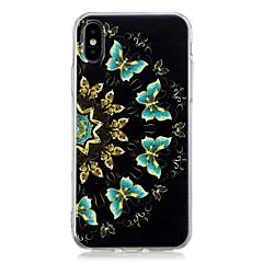 Недорогие Кейсы для iPhone 7-Кейс для Назначение Apple iPhone X / iPhone 8 Plus С узором Кейс на заднюю панель Бабочка Мягкий ТПУ для iPhone X / iPhone 8 Pluss /
