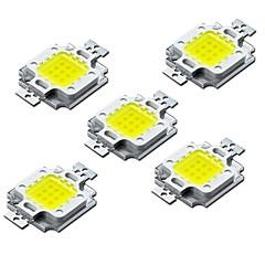 voordelige LED's-ZDM® 5 stuks Hoogspannings-LED Lampaccessoire LED-Chip Aluminium / Puur gouden draad LED voor doe-LED schijnwerper Spotlight 10W